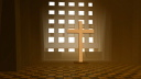 Royalty Free HD Video Clip of a Cross in a Sanctuary