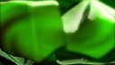Royalty Free HD Video Clip of Green Spinning Cubes