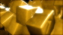 Royalty Free Video of Gold Cubes