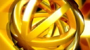 Royalty Free HD Video Clip of a Rotating Gold Sphere