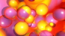Royalty Free HD Video Clip of Yellow and Pink Balls
