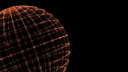 High-definition Video Clip of a Rotating Grid Sphere