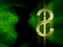 Royalty Free Video of a Turning Dollar Sign
