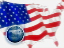 Royalty Free Video of an American Flag and Globe