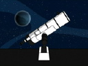 Royalty Free Video of a Telescope