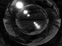 Royalty Free Video of a Flame in a Silver Ball