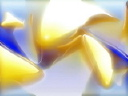 Royalty Free Video of an Abstract Blue and Yellow Pattern