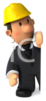 Royalty Free Clipart Image of an Architect