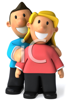 Royalty Free Clipart Image of a Happy Couple