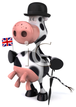 Royalty Free Clipart Image of an English Holstein