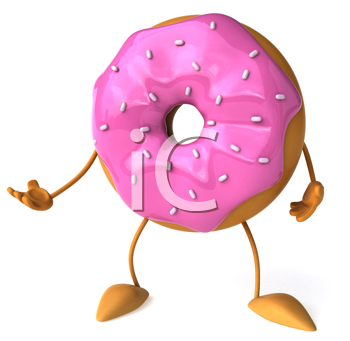 Royalty Free Clipart Image of a Glazed Doughnut