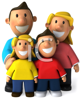 Royalty Free Clipart Image of a Family