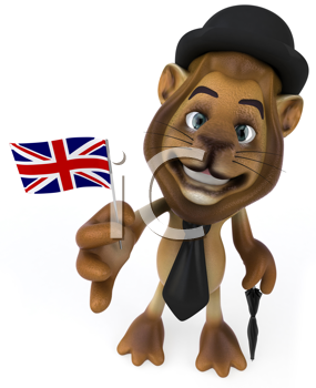 Royalty Free Clipart Image of an English Lion