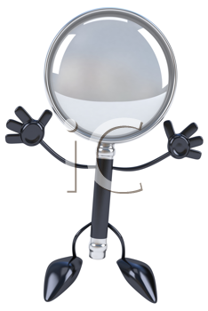 Royalty Free Clipart Image of a Magnifying Lens