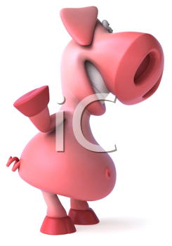 Royalty Free Clipart Image of a Pig