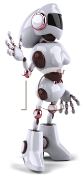 Royalty Free Clipart Image of a Robot Woman