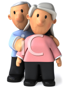 Royalty Free Clipart Image of Seniors