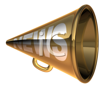 Royalty Free 3d Clipart Image of a Megaphone