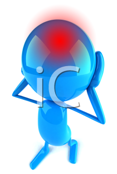 Royalty Free Clipart Image of a Headache