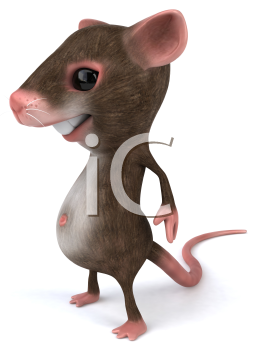 Royalty Free 3d Clipart Image of a Mouse