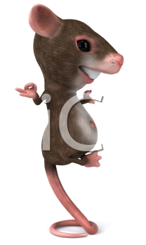 Royalty Free 3d Clipart Image of a Mouse Meditating