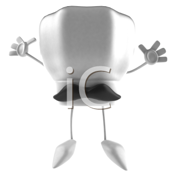 Royalty Free 3d Clipart Image of a Chef's Hat With a Moustache
