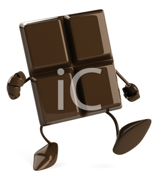 Royalty Free Clipart Image of a Piece of Chocolate