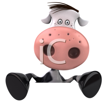 Royalty Free Clipart Image of Holstein Cow