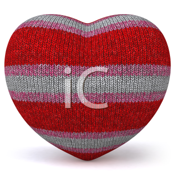 Royalty Free 3d Clipart Image of a Stuffed Heart