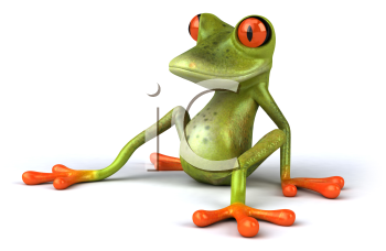 Royalty Free 3d Clipart Image of a Frog
