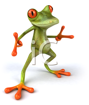 Royalty Free 3d Clipart Image of a Frog Dancing