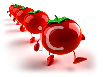 Royalty Free 3d Clipart Image of Tomatoes