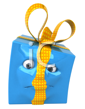 Royalty Free 3d Clipart Image of a Gift