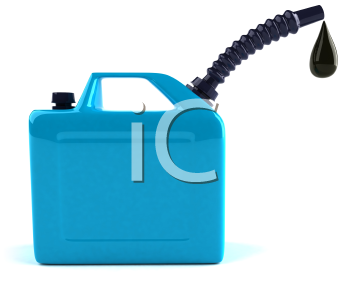 Royalty Free 3d Clipart Image of an Oil Can