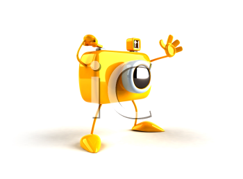 Royalty Free 3d Clipart Image of a Camera