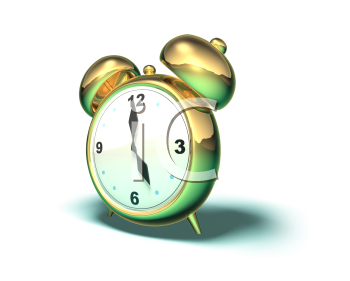 Royalty Free 3d Clipart Image of an Alarm Clock