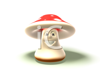 Royalty Free 3d Clipart Image of a Toadstool