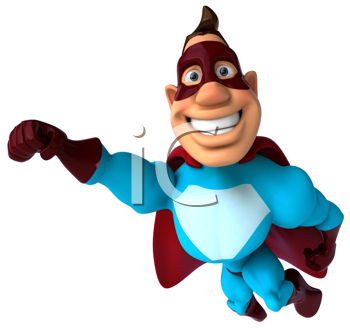 Royalty Free Clipart Image of a Superhero