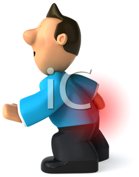 Royalty Free Clipart Image of a Man With a Jet Pack