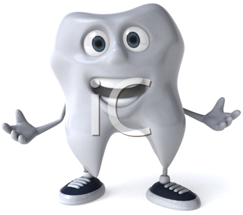 Royalty Free Clipart Image of a Tooth