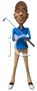 Royalty Free Clipart Image of a Golfer With a Club