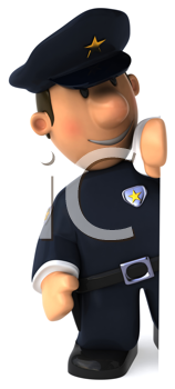 Royalty Free Clipart Image of a Cop