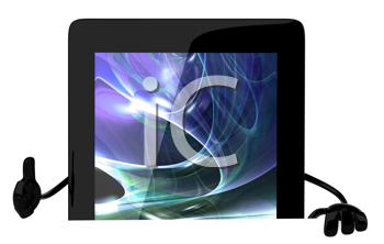 Royalty Free Clipart Image of a Tablet