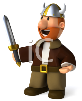 Royalty Free Clipart Image of a Viking