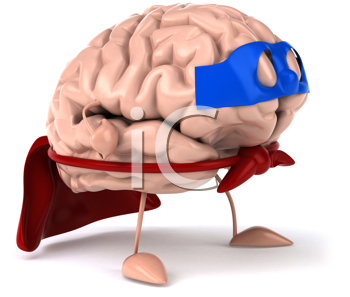 Royalty Free Clipart Image of a Super Brain