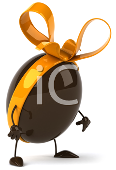 Royalty Free Clipart Image of a Chocolate Egg