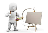 Royalty Free Clipart Image of an Artist