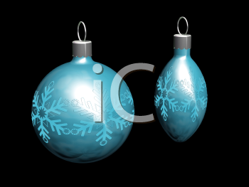 Royalty Free Clipart Image of Christmas Ornaments