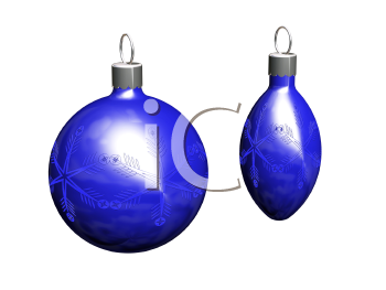 Royalty Free Clipart Image of Christmas Balls