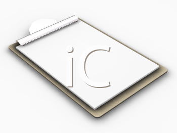 Royalty Free Clipart Image of a Blank Clipboard